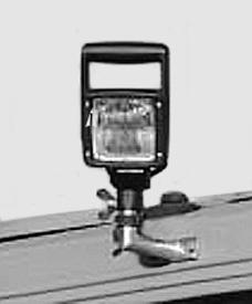 Faro de trabajo en soporte de luz giratoria
