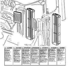 Filtro de aire de carbón activado
