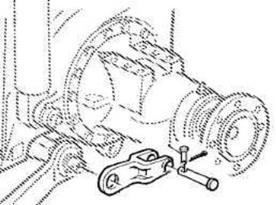 Horquilla/soporte de barra de tiro