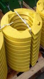 Conjunto de contrapesos para ruedas traseras, 77 kg (169,8 lb) (2 x 38,5 kg [84,9 lb], 1 para cada rueda)