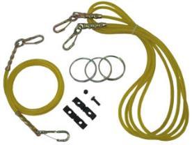 Cables de liberación para controlar el tensor central y los brazos de tiro.