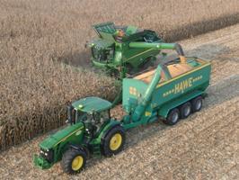 Guidage automatique pour la récolte de maïs