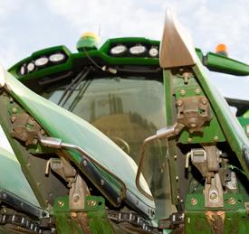 Effectuer la récolte à l'aide du système AutoTrac RowSense™