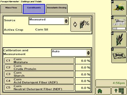 Console GreenStar™ 3 2630 affichant la quantité mesurée de constituants