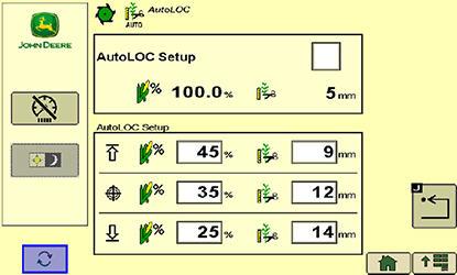 Écran de l'AutoLOC