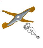 Design spécifique de cette lame de mulching