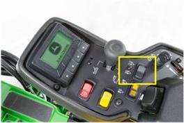 Interrupteur de commande de la largeur de coupe à la demande