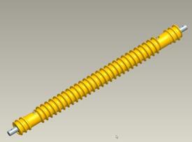 Vue d'ensemble du rouleau hélicoïdal anti-recouvrement