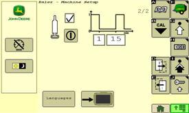 Les paramètres de graissage sont définis à partir de l'écran