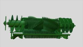 La trappe de décompression couvre toute la largeur du rotor