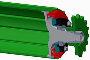 La protection des roulements inclut une chicane et un joint en plastique à lèvres