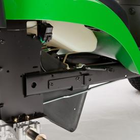Plaque et châssis d'attelage arrière renforcés