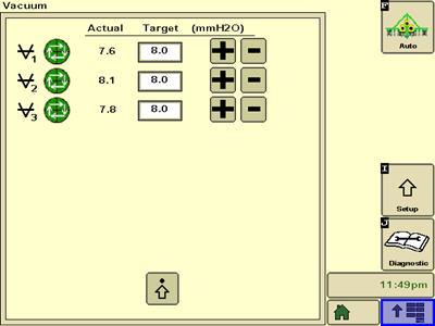 Écran de régulation automatisée de la dépression sur la console GreenStar™ 3 2630