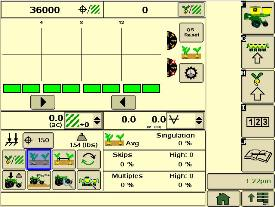 SeedStar XP seed singulation planter run page