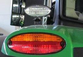 Deux phares de route de ceinture arrière - DEL