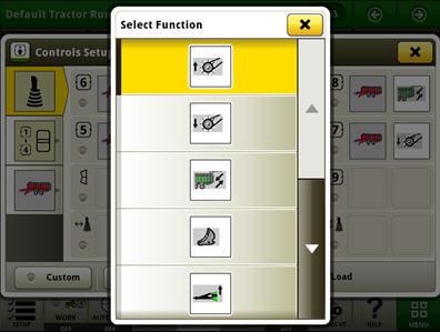 Sélection de la fonction pour l'outil ISOBUS