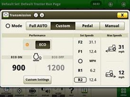 Mode ECO de la transmission variable à l'infini (IVT) activé