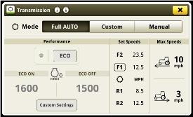 Mode Full AUTO (tout automatique) de la transmission IVT