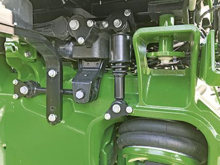 La suspension AirCushion isole le châssis des chocs dus aux irrégularités du terrain