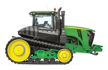 Le tracteur à deux chenilles série9RT offre une puissance au sol maximale