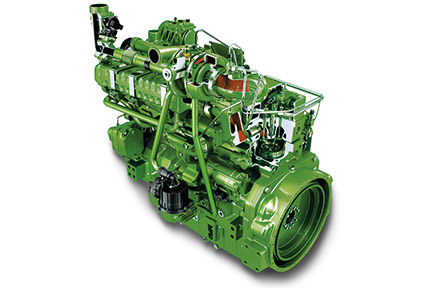 T670 with John Deere 9,0 L PowerTech PSS engine (Stage IV)