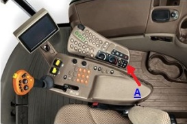 Convenient radio controls on the armrest
