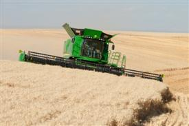 Harvesting in rolling ground and slopes