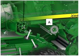 The overshot beater [A] evens out the crop flow and feeds the chopper rotor equally