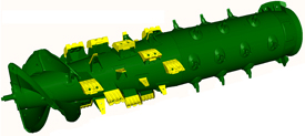 Rice rotor configuration