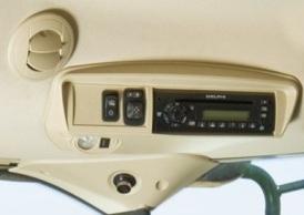 Overhead control panel (premium cab shown)