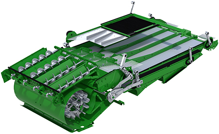 The large air volume paired with the new air flow and the large sieve area makes additional slope compensating features obsolete