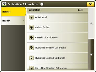 Active Yield calibration location