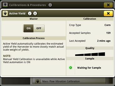 Active Yield information