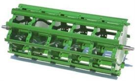 Rasp bar cylinder