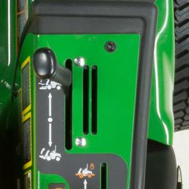 Deck lift-control lever