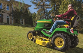 X758 Tractor mowing