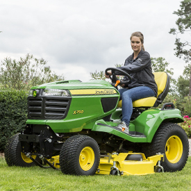 X750 Tractor mowing