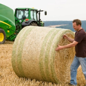 Bales perfectly wrapped with COVER-EDGE net