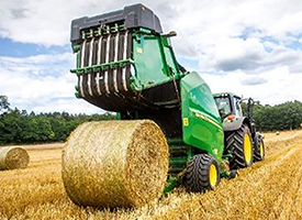 1.65-m (5.4-ft) x 1.21-m (3.97-ft) bales are heavy weight