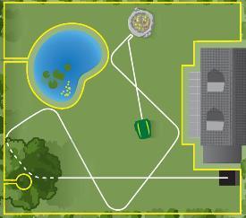 Schema of autonomous mowing