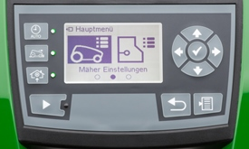 User interface with large display