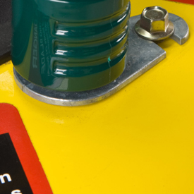 Hose-end adapter example shown can be purchased locally - not standard equipment