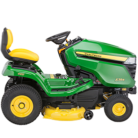 X354 Tractor with 107-cm (42-in.) mulching mower