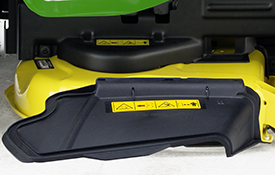 Side-discharge deflector on Accel Deep 42A Mower Deck