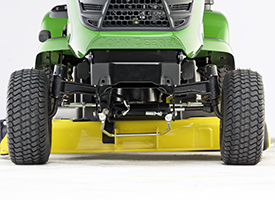 Front view of Accel Deep 42A Mower Deck