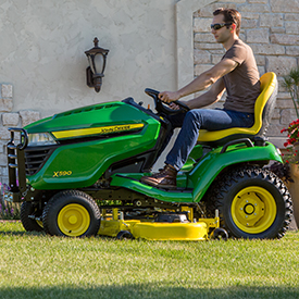 X590 with Accel Deep 54A Mower