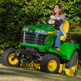 X754 Tractor mowing