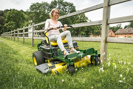 ZTrak™ Z335E Mower shown