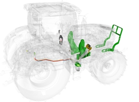 Tractor-ready feature for front loader