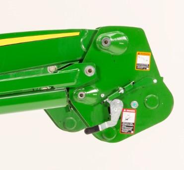 Automatic mast latch lever